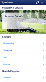Swisscom IT Services mobile version