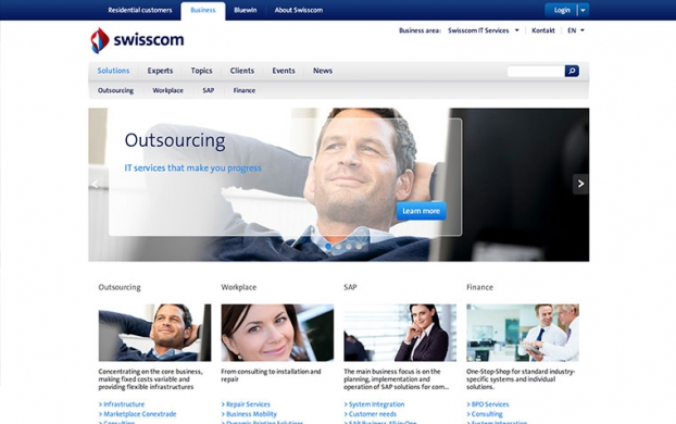 Swisscom IT Services desktop version